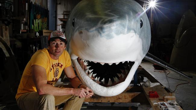 Model maker ... Paul Trefry with his beast. Picture: Craig Greenhill Source: The Daily Telegraph